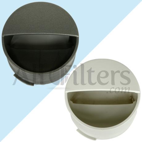 Refrigerator Water Filter Cap Silver Gray Biscuit Cream