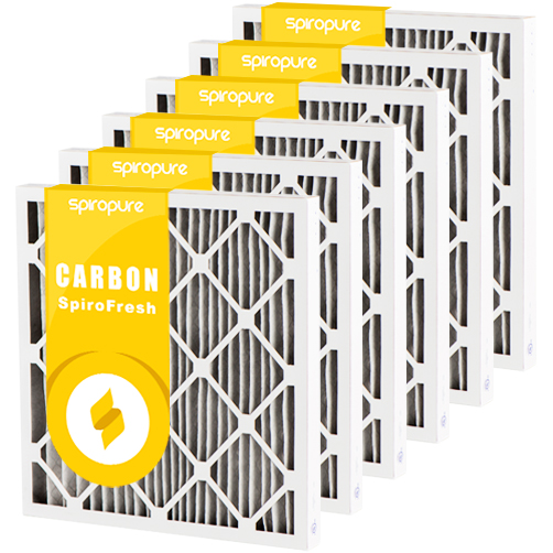 6 pack 20 x 24 x 4 Odor Ban Carbon Pleated Furnace Filter