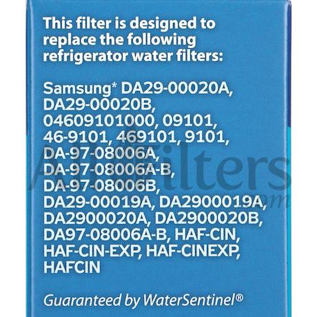 water sentinel wss2 samsung da2900020b compatible filter - Da2900020b