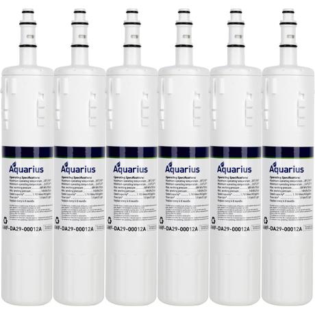 Aquarius AWF-DA29-00012A Samsung DA29-00012A / DA29-00012B Compatible  Refrigerator Water Filter (6 Pack)