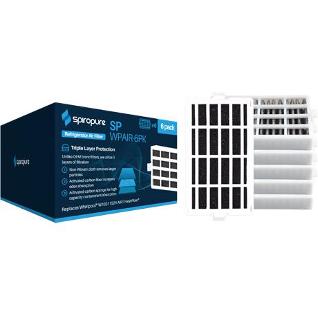 2X Refrigerator Air Filter for Whirlpool WRF560SMYM04